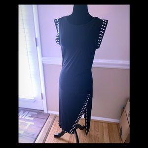 Michael Kors split hem body-con dress-Medium